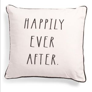 Rae Dunn happily ever after pillow new